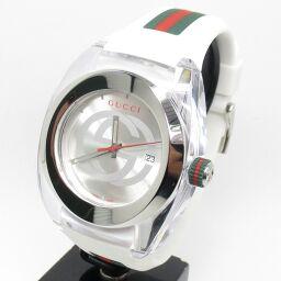 GUCCI グッチ YA137102 SYNC XXL 腕時計 79.6g ステンレススチール/ラバー メンズ【009】