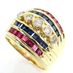SELECT JEWELRY Ring / Ring 9.7g K18 / Ruby 0.80ct Sapphire 0.90ct Diamond 0.35ct No. 11 Ladies [109]