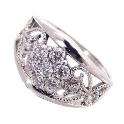 SELECT JEWELRY  透かしデザイン リング・指輪 5.8g Pt900/ダイヤモンド ダイヤ0.50ct 14号 レディース【105】