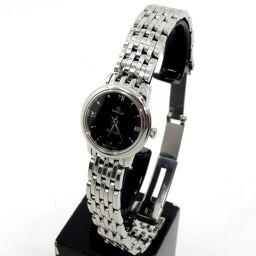 OMEGA Omega 424.10.24.60.01.001 Quartz De Ville Prestige Watch 46.2g Stainless Steel Ladies [109]