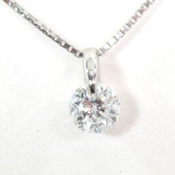 SELECT JEWELRY  ネックレス 2.9g Pt900/pt850 ダイヤモンド0.524ct レディース【109】