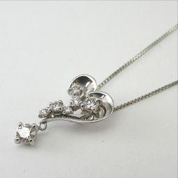 SELECT JEWELRY  ネックレス 2.9g Pt900/pt850 ダイヤモンド0.20ct レディース【901】