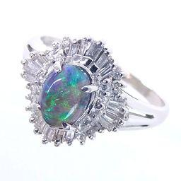 SELECT JEWELRY  リング・指輪 4.5g Pt900 ブラックオパール0.598ct ダイヤ0.40ct 13号 レディース【006】