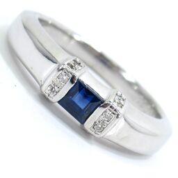 SELECT JEWELRY Ring / Ring 4.4g K18WG / Sapphire 0.36ct Diamond 0.06ct 9.5 Ladies [105]