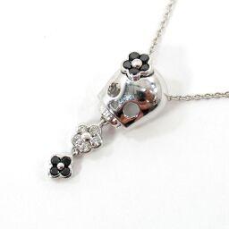 SELECT JEWELRY  ネックレス 2.8g K18WG ダイヤモンド/ブラックダイヤモンド計0.13ct レディース【109】