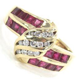 SELECT JEWELRY  リング・指輪 5.6g K18 ルビー1.35ct ダイヤモンド0.16ct 12.5号 レディース【104】