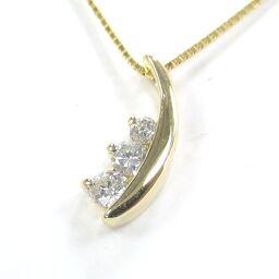 SELECT JEWELRY Necklace 1.8g K18 Diamond 0.16ct Ladies [104]