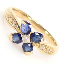 SELECT JEWELRY  リング・指輪 2.8g K18 サファイア0.66ct ダイヤモンド0.07ct 10号 レディース【007】