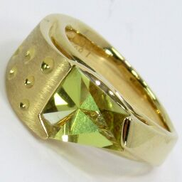 SELECT JEWELRY Isako Kikuchi Ring / Ring 9.8g K18 Lime Citrine 1.6ct Diamond 0.05ct No. 14 Ladies [101]