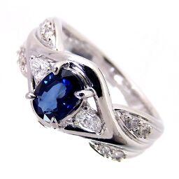 SELECT JEWELRY  リング・指輪 8.5g Pt900/サファイア/ダイヤモンド サファイア0.763ct ダイヤ0.27ct 12号 レディース【107】
