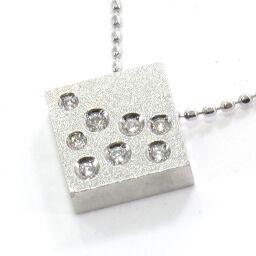 SELECT JEWELRY Necklace 2.8g K18WG Diamond 0.06ct Ladies [102]