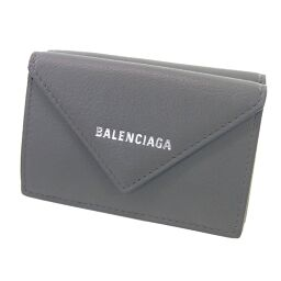 BALENCIAGA 391446 Paper tri-fold wallet (with coin purse) Leather Ladies [110]
