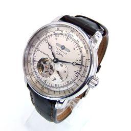 select watch セレクトウォッチ 76621 ツェッペリン 100周年記念モデル 自動巻 腕時計 70.0g ステンレススチール/レザー メンズ【006】