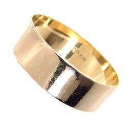 SELECT JEWELRY  平打ちデザイン リング・指輪 2.6g K18 17.5号 ユニセックス【105】