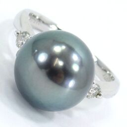 SELECT JEWELRY Ring / Ring 6.0g Pt900 Pearl Approximately 11.6mm Diamond 0.15ct Ladies [105]