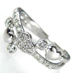 4℃ ハートモチーフ リング・指輪 4.6g K18WG/ダイヤモンド ダイヤ 12号 レディース