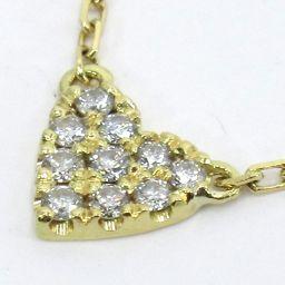 AHKAH Arker VC0104010100 Heart Necklace 1.3g K18 Diamond 0.05ct Ladies [912]