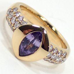SELECT JEWELRY  リング・指輪 9.1g K18 サファイア0.88ct ダイヤモンド0.58ct 12号 レディース【002】