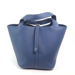 HERMES Hermes Picotan Lock MM Handbag Taurillon Clemence Ladies [109]