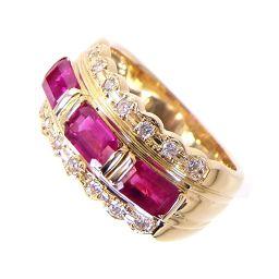 SELECT JEWELRY  リング・指輪 5.1g K18 ルビー1.93ct ダイヤ0.10ct 7.5号 レディース【1810】