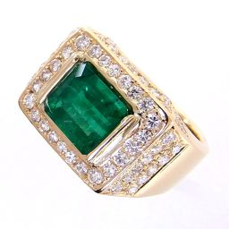 SELECT JEWELRY ring · ring 11.2g K18 emerald 1.852ct diamond 1.07ct 14 unisex 【901】