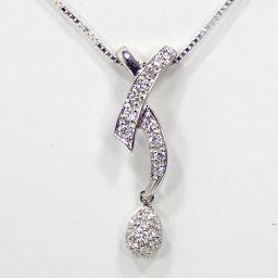 SELECT JEWELRY  ネックレス 4.1g K18WG ダイヤモンド0.30ct レディース
