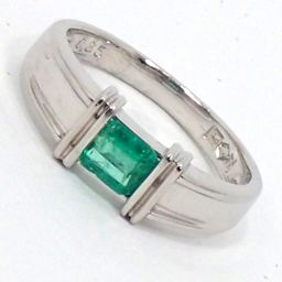 SELECT JEWELRY Ring / Ring 4.4g PT1000 Emerald 0.35ct 9 Ladies [002]