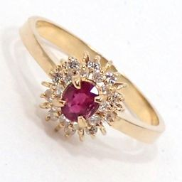 SELECT JEWELRY Ring / Ring 2.4g K18 Ruby Diamond 11.5 Ladies [002]