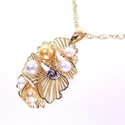 SELECT JEWELRY  ネックレス 13.7g K18 アコヤパール レディース【904】