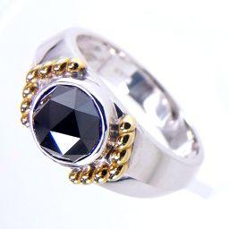 SELECT JEWELRY  リング・指輪 8.3g K18WG/K18 ブラックダイヤ2.32ct 18.5号 ユニセックス【905】
