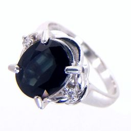 SELECT JEWELRY ring · ring 5.8g Pt900 sapphire 2.13ct diamond 0.04ct No. 10 ladies [905]