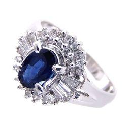 SELECT JEWELRY  リング・指輪 5.2g Pt900 サファイア0.56ct ダイヤ0.271ct 10号 レディース【906】