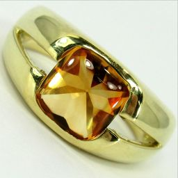 SELECT JEWELRY ring · ring 8g K18 Topaz about 7.3 × 7.3 mm No. 11 ladies [907]