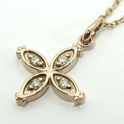 SELECT JEWELRY necklace 2.1g K18PG diamond 0.08ct women [907]