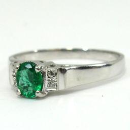 SELECT JEWELRY ring · ring 2.8g Pt900 emerald diamond 0.03ct 11.5 womens [907]
