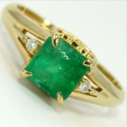 SELECT JEWELRY ring · ring 3g K18 emerald 0.85ct diamond 0.02ct 11 ladies [907]