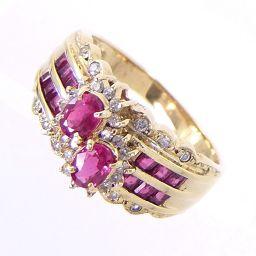 SELECT JEWELRY  リング・指輪 4.3g K18 ルビー0.78ct ダイヤモンド0.18ct 12号 レディース【901】
