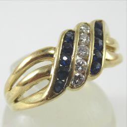 SELECT JEWELRY  リング・指輪 4.3g K18 サファイア0.29ct ダイヤモンド0.14ct 12.5号 レディース【901】