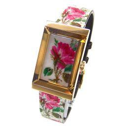 GUCCI Gucci YA147406 Shell Watch 27g Stainless Steel / Leather / Sapphire Glass Ladies [110]