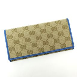 GUCCI Gucci 305282 GG canvas long wallet (with coin purse) canvas / leather Ladies [004]