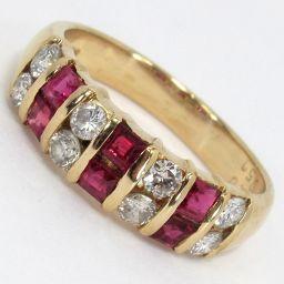 SELECT JEWELRY  リング・指輪 3.3g K18 ルビー0.50ct ダイヤモンド0.40ct 8号 レディース【003】