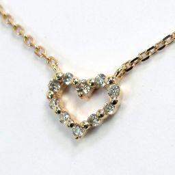 agete Agat Necklace 1.2g K10 Pink Gold Diamond 0.06ct Ladies [003]