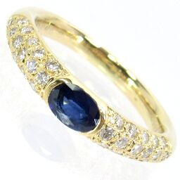 SELECT JEWELRY Ring / Ring 5.1g K18 Sapphire 0.52ct Diamond 0.35ct No. 16 Ladies [101]