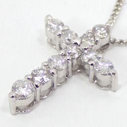 SELECT JEWELRY  ダイヤクロス ネックレス 3.6g pt850/Pt900 ダイヤモンド0.51ct レディース【912】