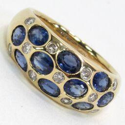 SELECT JEWELRY  リング・指輪 6.9g K18 サファイア2.44ct ダイヤモンド0.30ct 11号 レディース【009】