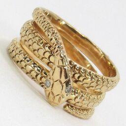 SELECT JEWELRY  ヘビ リング・指輪 6.2g K18 ダイヤモンド0.02ct 8.5号 レディース【009】