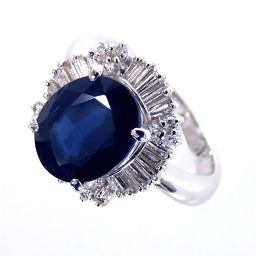 SELECT JEWELRY ring · ring 7.7g Pt900 sapphire 2.763ct diamond 0.51ct 11 ladies 【903】