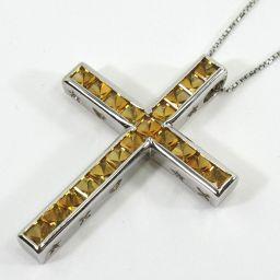 SELECT JEWELRY necklace 9.4g K18WG citrine 2.92ct women [907]