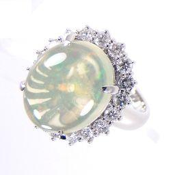 SELECT JEWELRY  リング・指輪 11.4g Pt900 ウォーターオパール5.11ct ダイヤ1.00ct 12号 レディース【1810】【5mrt】