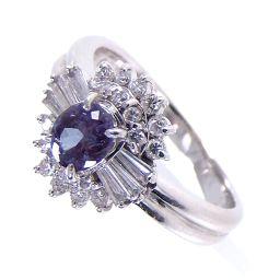 SELECT JEWELRY  リング・指輪 6.4g Pt900 アレキサンドライト0.50ct ダイヤ0.36ct 12号 レディース【1810】